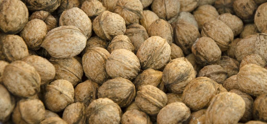 Nueces de Alicante. Mercado de frutos secos en Alicante. Nous d'Alacant.